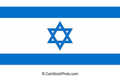 flat israeli flag