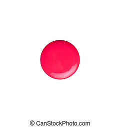 Sample of cosmetics on a white background.