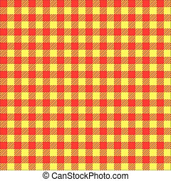 Seamless Red and Yellow Check pattern texture