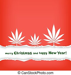 Christmas hemp congratulation