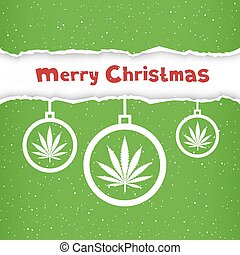 Christmas cannabis hemp congratulation