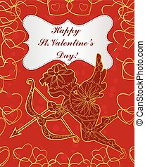 Happy St. Valentines day card - Vector happy St. Valentines...