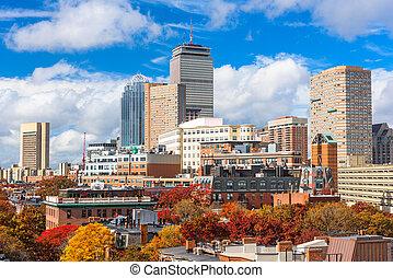 Boston Skyline in Autumn