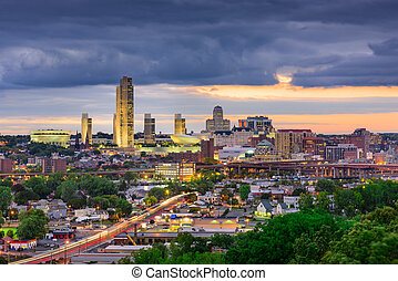 Albany, New York Skyline - Albany, New York, USA Skyline.