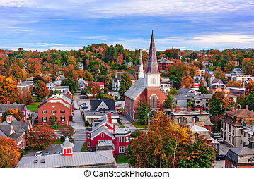 Montpelier, Vermont Townscape - Montpelier, Vermont, USA...