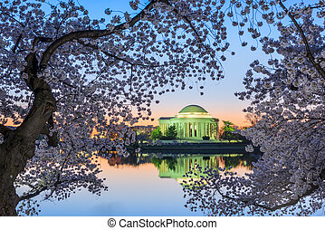 Jefferson Memorial in Spring - Washington, DC at the...