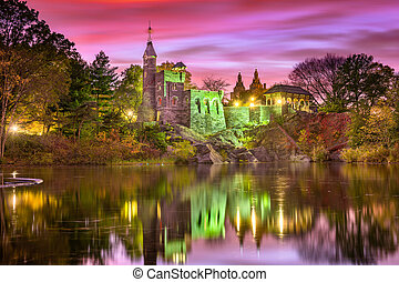 Central Park Castle - Central Park, New York City at...