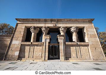 Famous Landmark Debod, egyptian temple in Madrid, Spain.