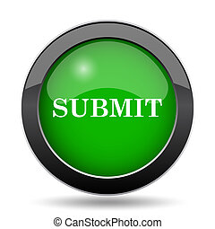 Submit icon, green website button on white background.