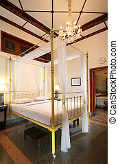 vintage bedroom - traditional bedroom in a heritage hotel in...