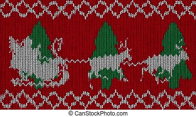 Knitted Holidays Loop - contain funny animated knitted-like...
