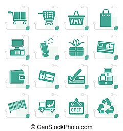 Stylized Simple Online Shop icons