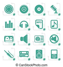 Stylized Music and sound Icons
