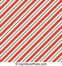 Seamless Christmas Stripe Pattern