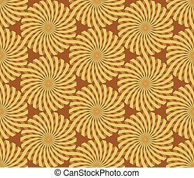 Seamless Christmas Wrapping Paper Spiral pattern