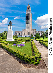 Louisiana State Capitol - Baton Rouge, Louisiana, USA at...