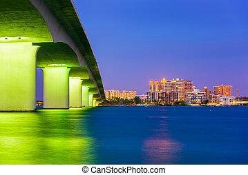 Sarasota Florida Skyline - Sarasota, Florida, USA skyline...