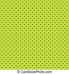 Seamless green dots on lime green background
