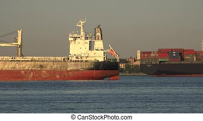 Cargo Ship And Freight