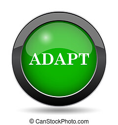 Adapt icon, green website button on white background.