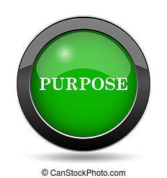 Purpose icon, green website button on white background.