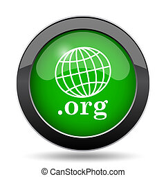 .org icon, green website button on white background.