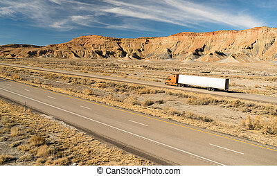 Over The Road Long Haul 18 Wheeler Big Rig Truck - A trucker...