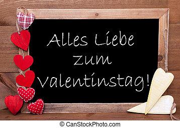 medios, Valentines, valentinstag, Corazones, chalkbord, día...