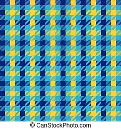 Seamless multicolour gingham pattern. Lime green and blue...