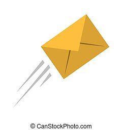 express mail email envelope flying