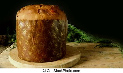 Italian Panettone - Italian panettone covered with with...