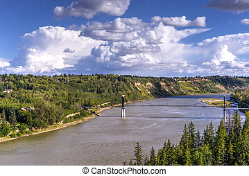 Edmonton landscape - North Saskatchewan river valley...
