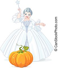Fairy Godmother Making Magic Pumpkin Carriage - Fairy...