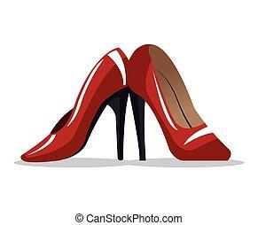 red high heel shoe wo