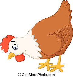 Hen cartoon