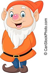 Cute dwarf cartoon - Vector illustration of Cute dwarf...