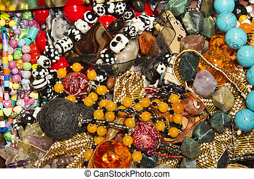 A pile of jewelry