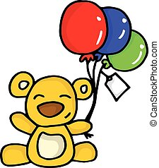Collection of bear with balloon
