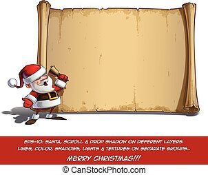 Happy Santa Scroll - It Is Christmas Time