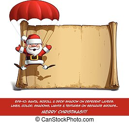 Happy Santa Scroll - Parachute Open Hands