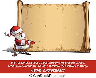 Happy Santa Scroll - Presenting