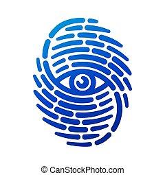 Fingerprint with eye