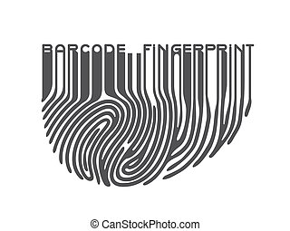 Black fingerprint with bar code
