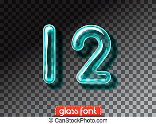 Realistic glass alphabet font - Super realistic glass...