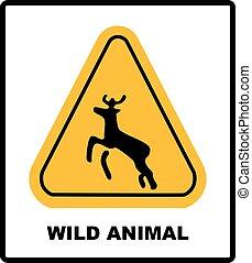 beware deer crossing warning traffic signs.