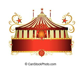 circus red border frame - A circus sign isolated on white...