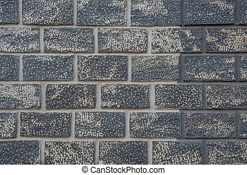 Old wall of stone bricks - Old wall of stone gray, black and...