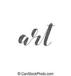 Art. Brush lettering illustration. - Art. Brush hand...