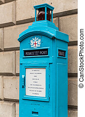 Old Police Public Call Post in the City of London - not in...