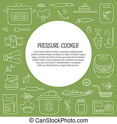Blogging card template - Pressure cookers and products....